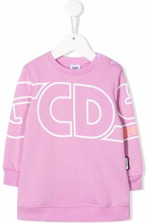 GCDS Logo-print cotton sweatshirt