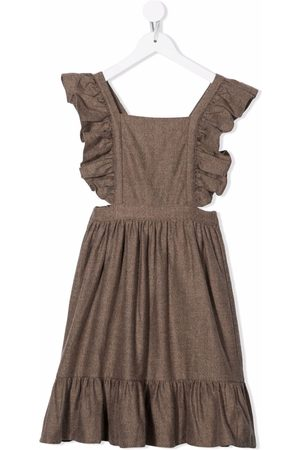 The New Society Ruffle-trim crossover-straps dress
