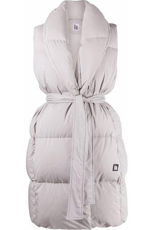 BACON Women Blazers - Tied-waist feather-down padded gilet