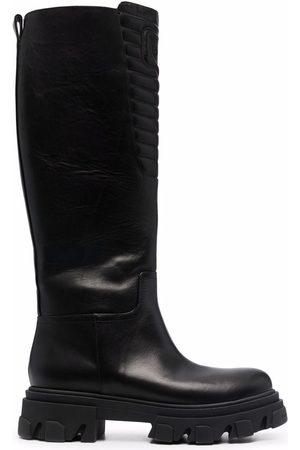 Chiara Ferragni Eyelike knee-high biker boots