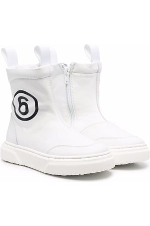 MM6 KIDS Number print ankle boots