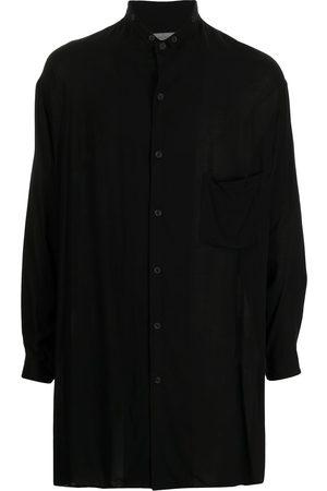YOHJI YAMAMOTO Band-collar oversized shirt