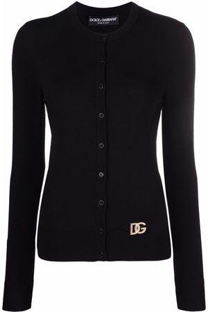 Dolce & Gabbana Logo-plaque round neck cardigan