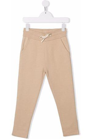 BONPOINT Girls Pants - Drawstring-waist cotton track trousers