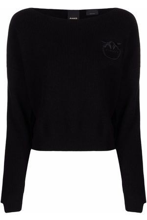 Pinko Logo-embroidered knitted jumper