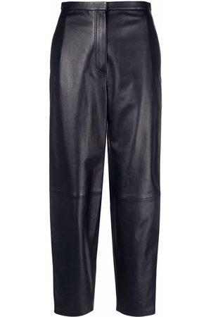 12 STOREEZ Balloon-leg leather trousers