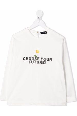 MONNALISA Slogan-print cotton T-shirt