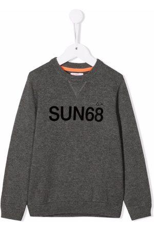 sun68 Chest-logo crewneck sweater
