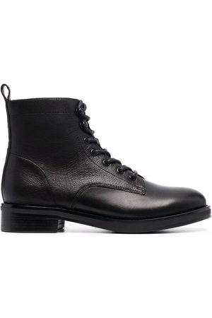 12 STOREEZ Leather lace-up boots