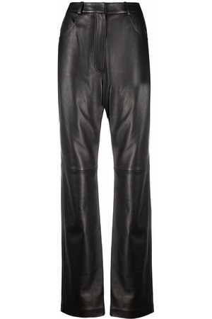 12 STOREEZ Straight leg leather trousers
