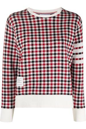 Thom Browne 4-Bar stripe checked sweatshirt