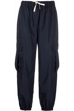 There Was One Women Cargo Pants - Cargo drawstring-waist cropped trousers