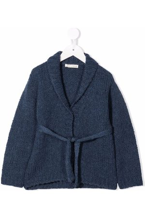 Zhoe & Tobiah Belted rib-trimmed cardigan
