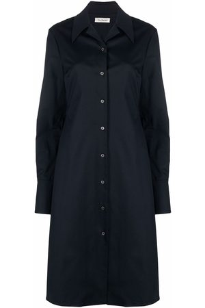 There Was One Button-front mid-length shirtdress
