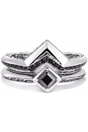 John Hardy Classic Chain Tiga set of 2 stackable rings