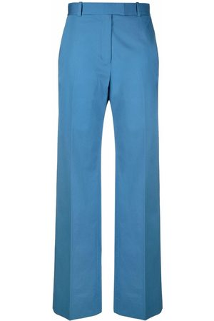 There Was One High-waisted straight-leg tailored trousers