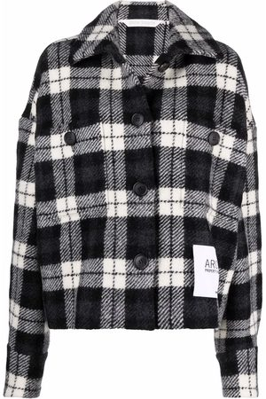 Palm Angels Houndstooth-pattern shirt jacket
