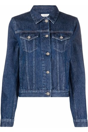 There Was One Stonewashed denim jacket