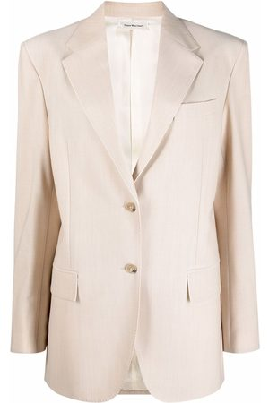 There Was One Oversized button-front blazer