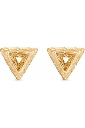 John Hardy 18kt yellow Tiga Classic Chain 9mm triangle stud earrings