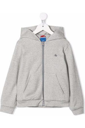 FAY Embroidered logo fleece hoodie