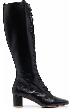By Far Women Knee High Boots - Lada lace-up knee-length boots