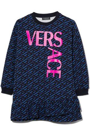 VERSACE Monogram-print sweatshirt dress