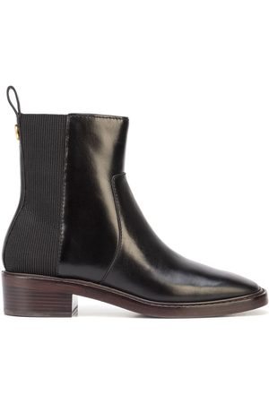 Tory Burch Square-toe leather Chelsea boots