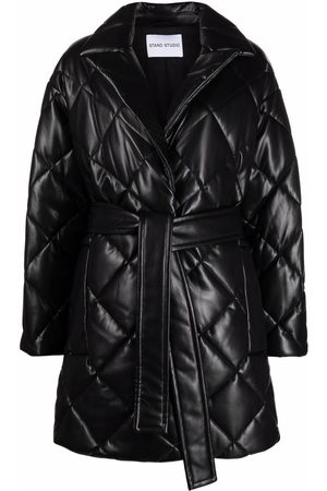 Stand Studio Belted quilted coat