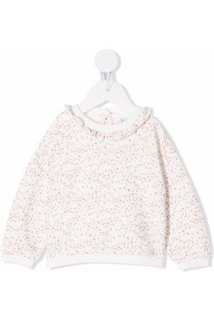 KNOT Floral-print ruffle-collar sweatshirt