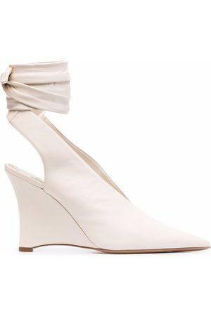 Emilio Pucci Women Wedged Pumps - Ankle-tie wedge pumps