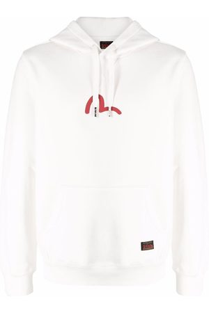 Evisu Logo-print cotton hoodie