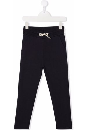 BONPOINT Drawstring-waist cotton track trousers