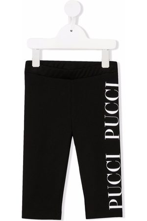 Emilio Pucci Logo-print cotton leggings