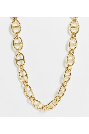 DesignB London Exclusive oval chain choker necklace in