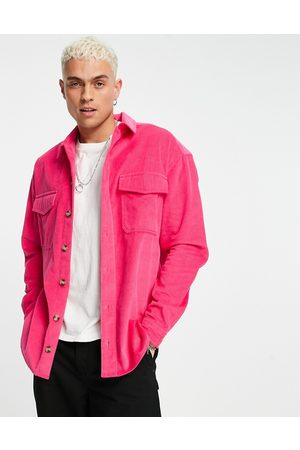 ASOS 90s oversized cord shirt with double pockets in bright
