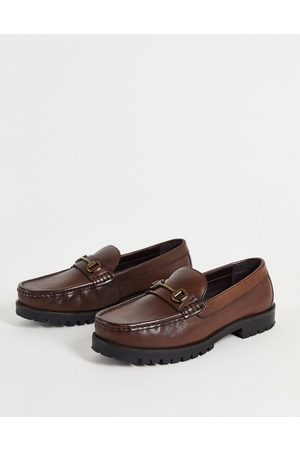 Schuh Ralph chunky snaffle loafers in leather