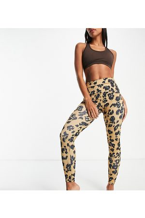 Onzie High waisted leggings in leopard print exclusive to ASOS-Multi