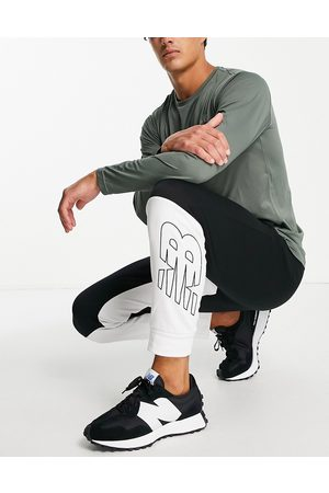 New Balance Colourblock joggers in and white