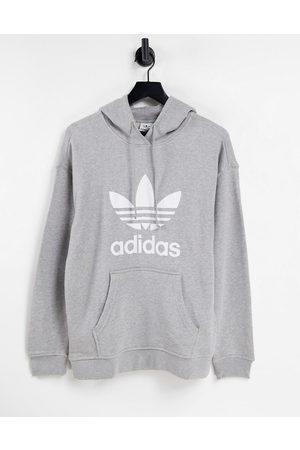 adidas Women Sweatshirts - Adicolor large logo hoodie in