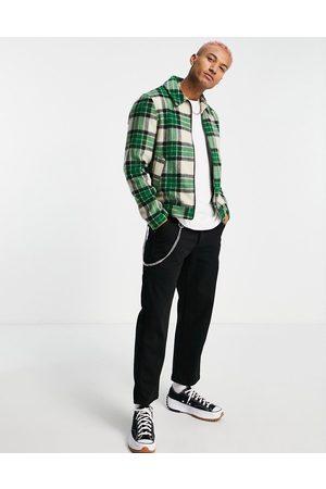 ASOS Harrington jacket in check