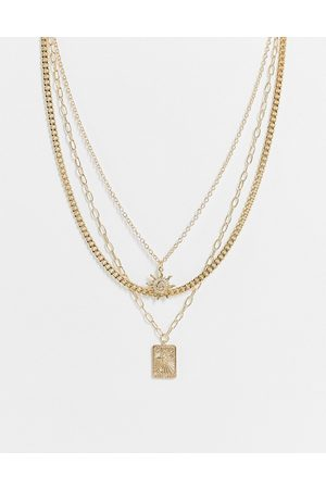 Liars & Lovers Sun and star pendant multirow necklace in