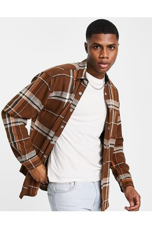 ASOS Men Casual - 90s oversized check shirt in wool mix
