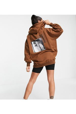 Sixth June Women Sweatshirts - Oversized hoodie with back logo and front graphic