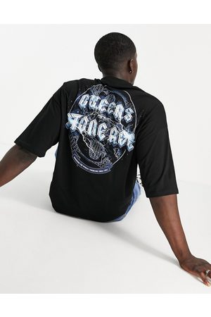 ASOS Oversized band t-shirt with Queens Of The Stone Age print in