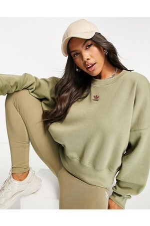 adidas Essentials sweatshirt in khaki