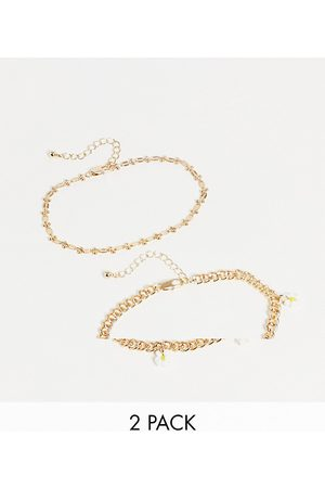 Pieces 2 pack anklet with daisy charms in