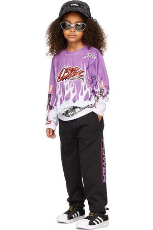 032c Long Sleeve - Kids Motocross Flames Long Sleeve T-Shirt