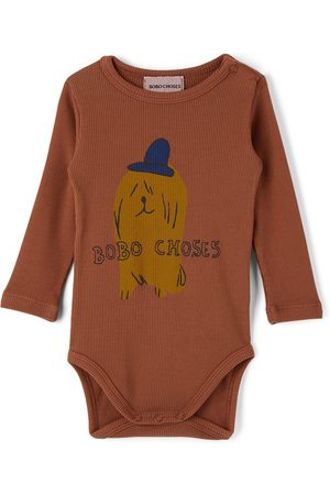 Bobo Choses Rompers - Baby Dog In The Hat Bodysuit