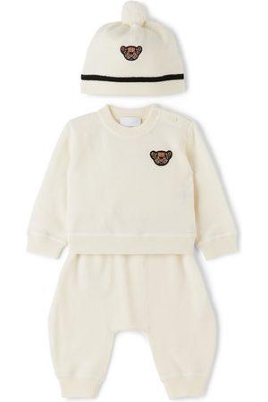 Burberry Beanies - Baby Merino Wool Thomas Bear Motif Set